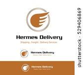hermes wings transportation... | Shutterstock .eps vector #529406869