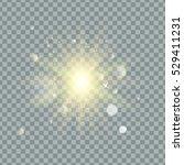 transparent glow light effect.... | Shutterstock .eps vector #529411231