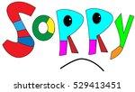 sorry   word. | Shutterstock .eps vector #529413451