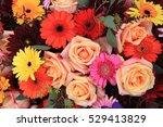 a colorful flower arrangement...   Shutterstock . vector #529413829