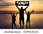 happy family standing on the... | Shutterstock . vector #529415311