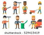 lumberjack with beard holding... | Shutterstock .eps vector #529415419