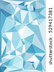 blue polygonal mosaic... | Shutterstock .eps vector #529417381