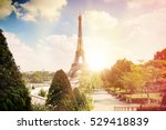 view on eiffel tower through... | Shutterstock . vector #529418839