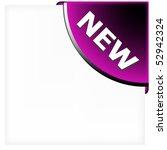 purple corner ribbon for new... | Shutterstock .eps vector #52942324
