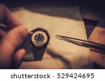 jeweler during the evaluation... | Shutterstock . vector #529424695