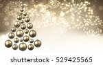 golden new year background with ... | Shutterstock .eps vector #529425565