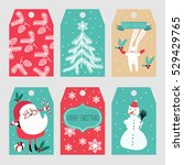 christmas labels | Shutterstock .eps vector #529429765