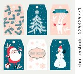 christmas labels | Shutterstock .eps vector #529429771