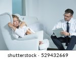 young woman on a session with a ... | Shutterstock . vector #529432669