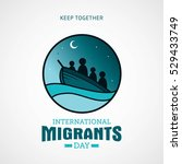 international migrants day...   Shutterstock .eps vector #529433749