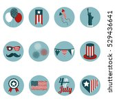 4th of july  independence day... | Shutterstock .eps vector #529436641