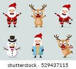 christmas santa claus reindeer  ...   Shutterstock .eps vector #529437115
