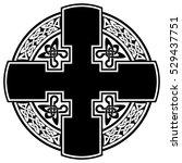 vector celtic cross for use in... | Shutterstock .eps vector #529437751