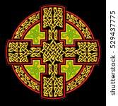 vector celtic cross for use in... | Shutterstock .eps vector #529437775