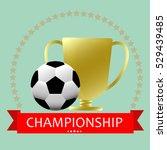 soccer football medal... | Shutterstock .eps vector #529439485