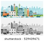 smart city with contemporary... | Shutterstock .eps vector #529439671