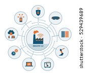 industry 4.0 concepts  security ... | Shutterstock .eps vector #529439689
