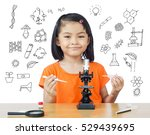 asian little girl with... | Shutterstock . vector #529439695