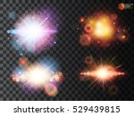 stars set space isolated on a... | Shutterstock .eps vector #529439815