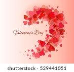 valentine day  beautiful...   Shutterstock .eps vector #529441051