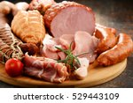assorted meat products... | Shutterstock . vector #529443109