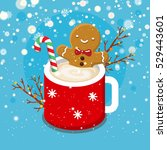 christmas card with nice... | Shutterstock .eps vector #529443601