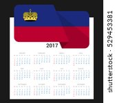 calendar grid for 2017 with... | Shutterstock .eps vector #529453381