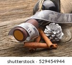 bottle of red wine and...   Shutterstock . vector #529454944