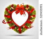 Christmas Wreath In The Shape...