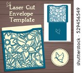 lasercut vector wedding... | Shutterstock .eps vector #529456549