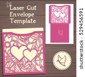 lasercut vector wedding... | Shutterstock .eps vector #529456591