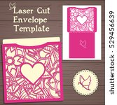 lasercut vector wedding... | Shutterstock .eps vector #529456639