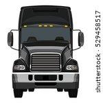 front black truck on white... | Shutterstock .eps vector #529458517