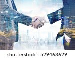 close up of two businessmen... | Shutterstock . vector #529463629