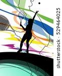 tennis players active sport... | Shutterstock .eps vector #529464025
