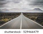 endless road to timanfaya... | Shutterstock . vector #529466479