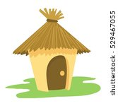 village tiki hut icon. cartoon... | Shutterstock .eps vector #529467055