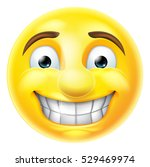 cartoon emoji emoticon smiling... | Shutterstock .eps vector #529469974