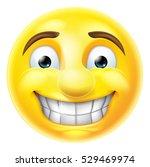 cartoon emoji emoticon smiling...   Shutterstock .eps vector #529469974