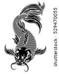 an oriental koi or coy carp... | Shutterstock .eps vector #529470055