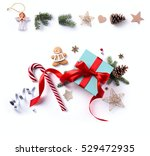 christmas holiday decoration ... | Shutterstock . vector #529472935