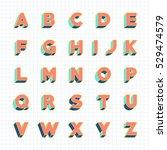 vintage 3d font  retro bold... | Shutterstock .eps vector #529474579