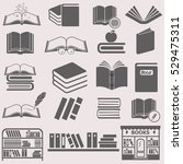 book set vector icon. | Shutterstock .eps vector #529475311