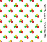 baby cubes pattern. cartoon... | Shutterstock .eps vector #529476385