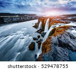 rapid flow of water powerful... | Shutterstock . vector #529478755
