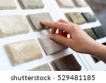shop carpets. woman in shop... | Shutterstock . vector #529481185