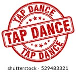 tap dance. stamp. red round...   Shutterstock .eps vector #529483321