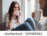 photo of loving couple sitting... | Shutterstock . vector #529485361
