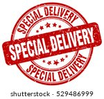 special delivery. stamp. red... | Shutterstock .eps vector #529486999